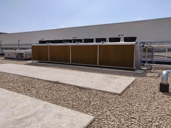 Condensador Adiábtico en instalación